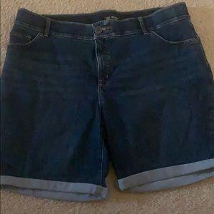 Women's Plus size 18W Jean Shorts by Lee